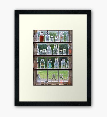 Hobby - Collector - Milk Bottles  Framed Print