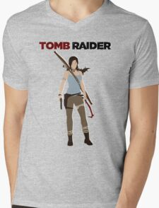 Lara Croft -  Tomb Raider Mens V-Neck T-Shirt