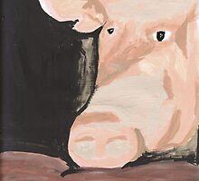 Frau Muscle painting by hopelessmoo