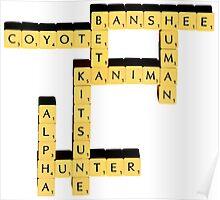Species | Scrabble Poster