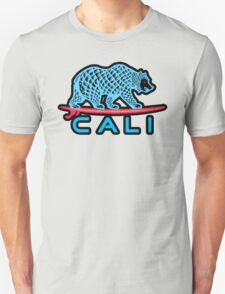 Cali Bear (Light Blue With Black Border) T-Shirt