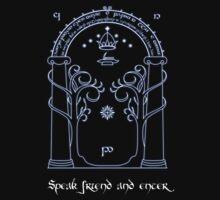 Speak friend and enter (Dark tee) by thehappyiceman7