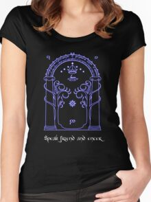 Speak friend and enter (Dark tee) Women's Fitted Scoop T-Shirt