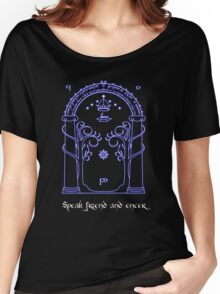 Speak friend and enter (Dark tee) Women's Relaxed Fit T-Shirt
