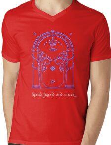 Speak friend and enter (Dark tee) Mens V-Neck T-Shirt