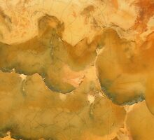 Golden Marbleized Grunge by LaRoach