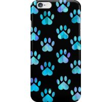 Blue Paw Pattern iPhone Case/Skin