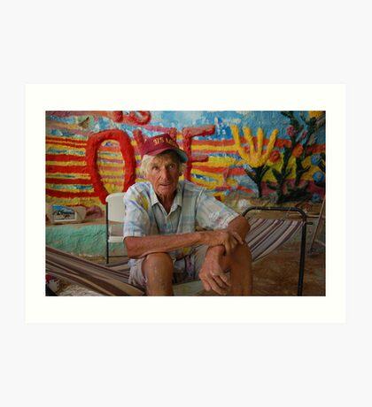 Leonard Knight...  God is love Art Print