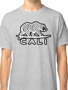 Cali Bear White with Black Classic T-Shirt