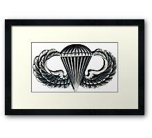 Paratrooper Jump Wings Framed Print