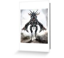 mounted creature Greeting Card