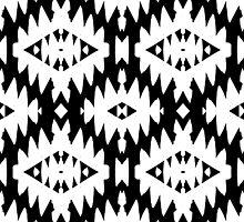 Pattern with Native American art motifs by tukkki