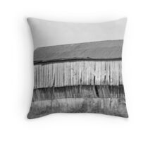 A lonely Barn  Throw Pillow