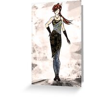 fashion  Greeting Card