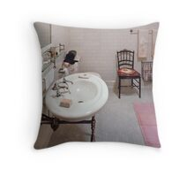 Building Trades - Plumber - The Bathroom  Throw Pillow