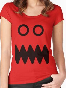 Angry monster face Women's Fitted Scoop T-Shirt