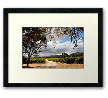 Storm across the vineyard Framed Print