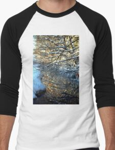 Snowy Creek Reflection Men's Baseball ¾ T-Shirt