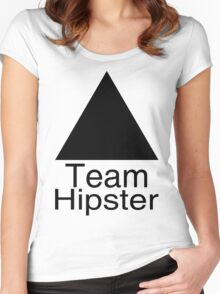 Team ▲ Hipster à la Helvetica Women's Fitted Scoop T-Shirt