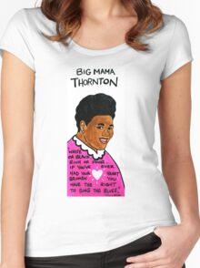Big Mama Thornton Blues Folk Art Women's Fitted Scoop T-Shirt