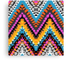 Chevron pattern wit dotted lines Canvas Print