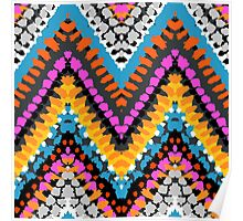 Chevron pattern wit dotted lines Poster