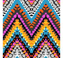 Chevron pattern wit dotted lines Photographic Print