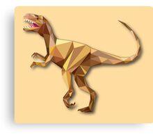 Dinosaur Lowpoly Canvas Print