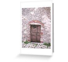 Old World Door Greeting Card