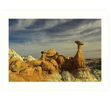 Red Hoodoo Art Print