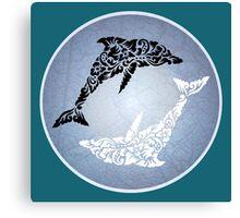 Yin yang dolphin Canvas Print