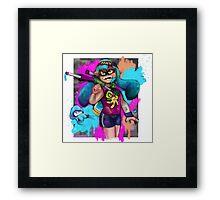 Splatoon: GET INKED SON Framed Print