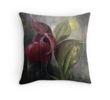 Orchid Bulb Throw Pillow