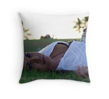 Tammy- Kaka'ako Beach Park Throw Pillow