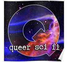 Queer Sci Fi Logo Poster