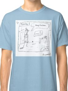 After a stroke of luck, it would seem Ted has made it home Classic T-Shirt