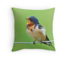 Barn Swallow Courting Throw Pillow