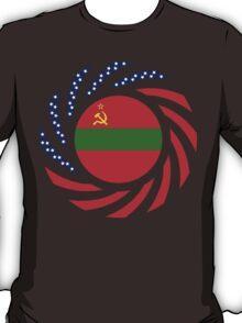 Transnistrian American Multinational Patriot Flag Series T-Shirt