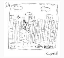 The city is not as Ted remembers by Scapetti