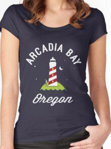 Pricefield Under a Lighthouse Women's Fitted Scoop T-Shirt