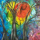Trees in a Chaos of Color by Erin DuFrane Art