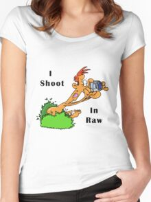 I Shoot In Raw Women's Fitted Scoop T-Shirt