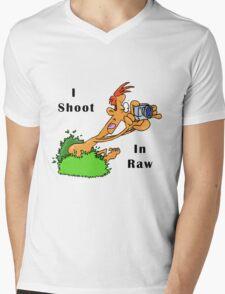 I Shoot In Raw Mens V-Neck T-Shirt