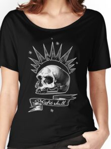 Misfit Skull Black Women's Relaxed Fit T-Shirt