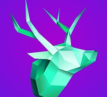 Origami Deer by Michael Blais