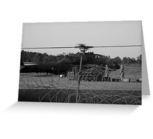 Black and White Thunder Greeting Card
