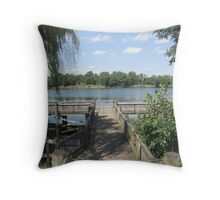 A View From The Pier Throw Pillow