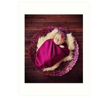 babe in a bowl Art Print