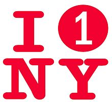 I love the number 1 subway New York City by hookink