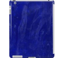 Inky Mess Blue Artistic Spill and Splash iPad Case/Skin